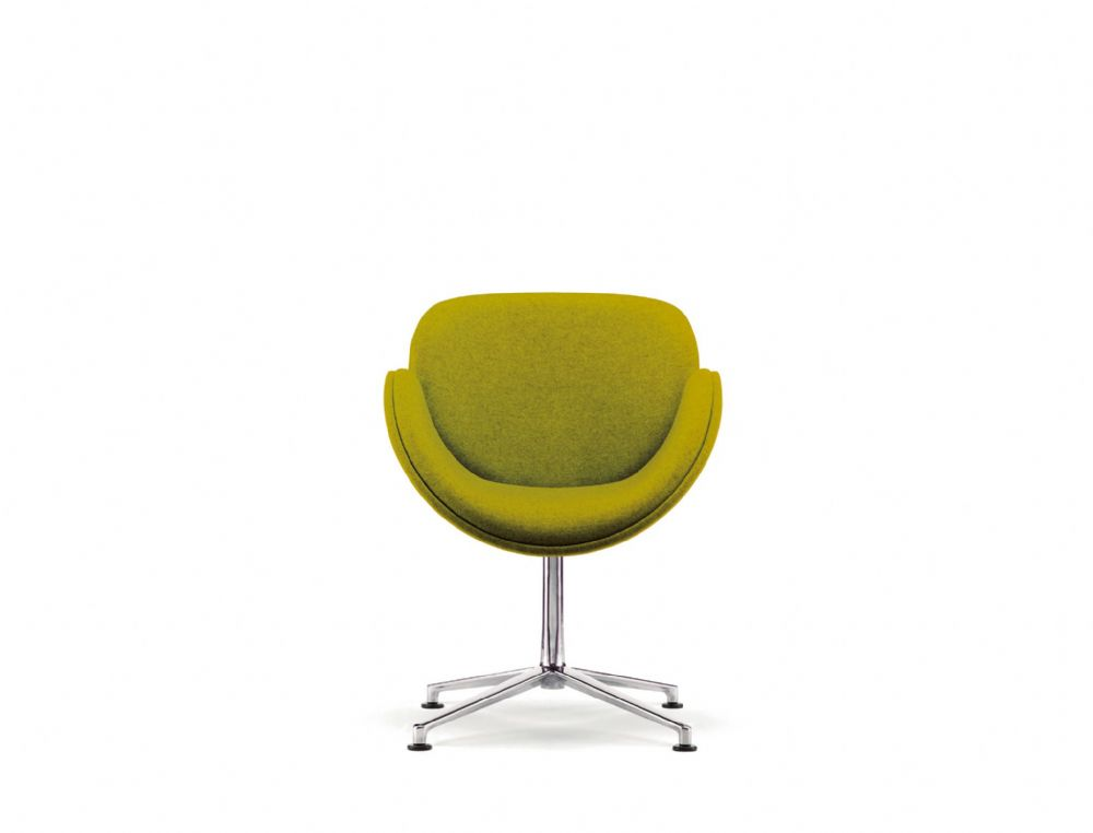 Pledge Spirit Fully Upholstered Breakout Chair With Polished Aluminium Star Base